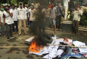 Aksi GPP-NKRI menolak HRS di Medan, Kamis (26/11). Foto: Dok Poltabes Medan for Waktuindonesia