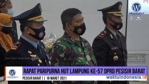 DPRD Pesibar Gelar Rapat Paripurna Istimewa HUT Lampung ke-57
