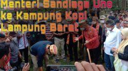 VIDEO: Menteri Parekraf Sandiaga Uno ke Kampung Kopi Rigisjaya