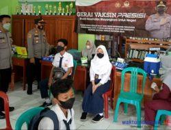 Polsek Padang Cermin Gelar Vaksinasi Merdeka Di SMPN 2 Pesawaran