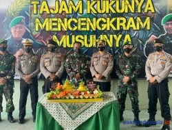 HUT TNI Ke-76, Polres Pesawaran Sambangi Kipan A 143 dan Brigif Marinir Piabung