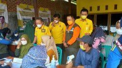 Vaksinasi Partai Golkar Pesawaran Sasar Warga Kecamatan Way Lima
