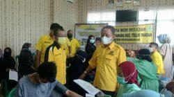Golkar Pesawaran Gelar Vaksinasi, Kali Ini Di Hanura Teluk Pandan