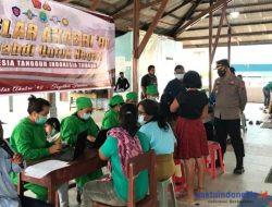 Kapolres Tanah Karo Tinjau Vaksinasi di Batukarang